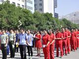 公司志愿者积极参加安全日活动